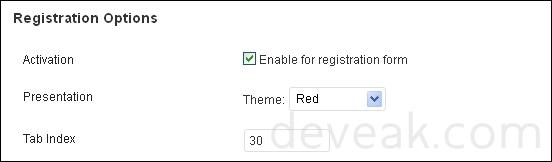 WP-reCAPTCHA Registration Options