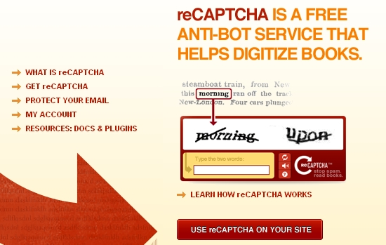 Register reCAPTCHA